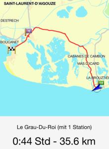 Route St Maries - Grau du Roi