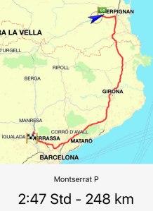 Route Ille sur Tete - Montserrat