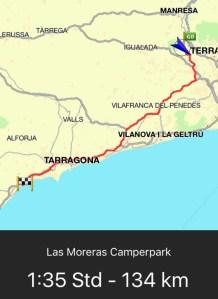 Route Montserrat - Cambrils