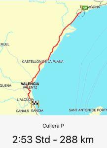 Route Cambrils - Cullera