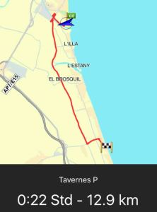 Route Cullera - Tavernes