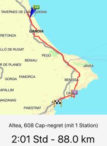 Route Tavernes - Altea