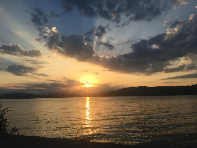 Sonnenuntergang Murten