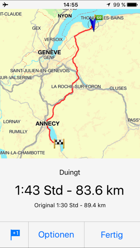 Route GenferSee-Annecy
