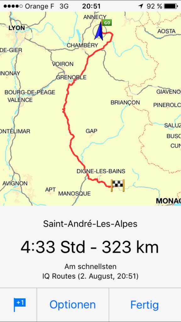 Route Lac Annecy - Lac Castillon