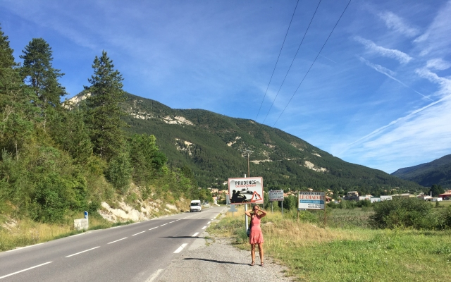 Straße St.Andre les Alpes