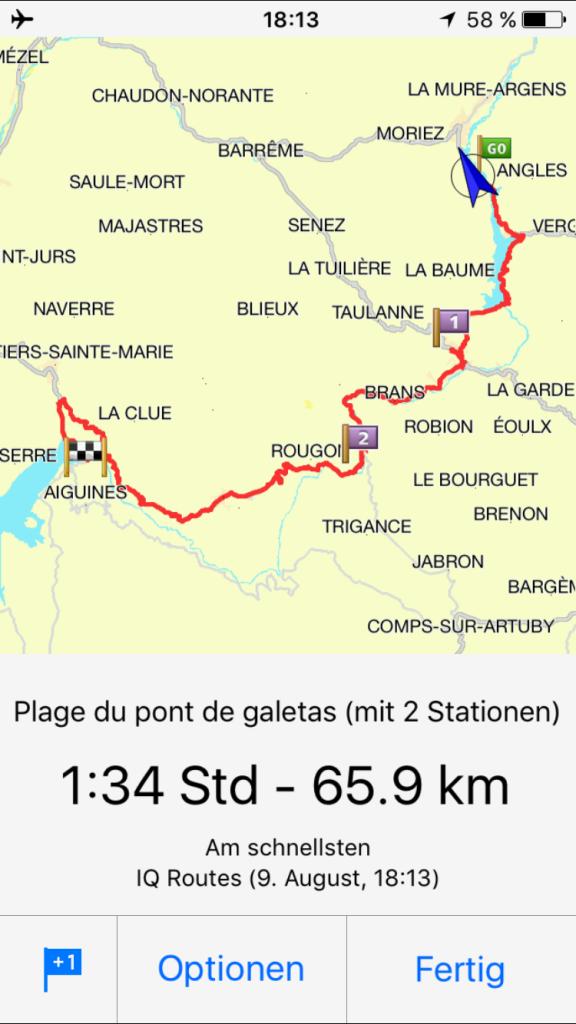 Route Lac Castillon - Lac St.Croix