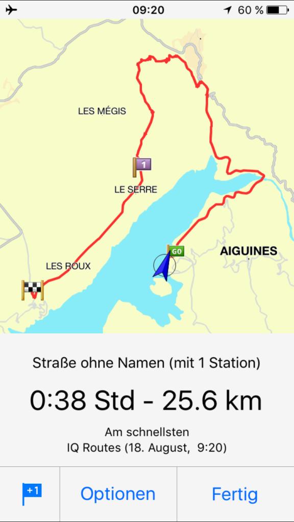 Route um den See